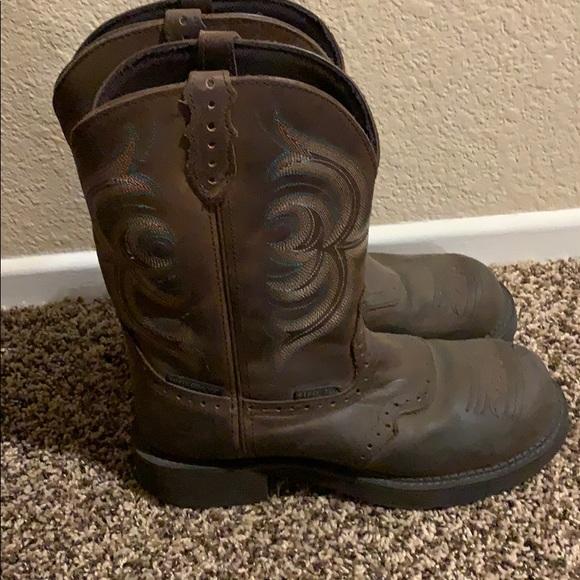 Womens Justin Gypsy Steel Toe Boots